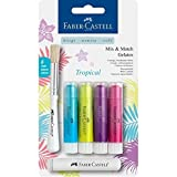 Faber-Castell 121807 Aquarellkreiden Gelatos Tropical Set, 6 teilig