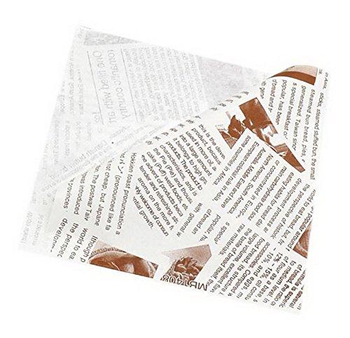 100 Pack Englisch Drucken Triangle Anti-Öl Kraftpapier Tasche Für Donut Sandwich Kuchen