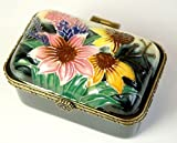 "Old Tupton Ware Art Deco Rectangular Trinket Box ""Summer Bouquet""."
