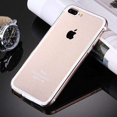 Hülle für iPhone 7 plus , Schutzhülle Für iPhone 7 Plus TPU + Aluminiumlegierung Stoßfänger ,hülle für iPhone 7 plus , case for iphone 7 plus ( Color : Silver ) Gold