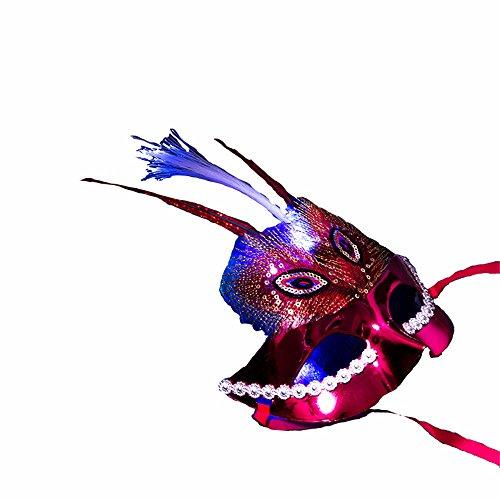 ONE-K Mask Spitze Halloween Kostüm Maske Requisiten Kinder Party Show Maskerade Performance Maske, Wein ()