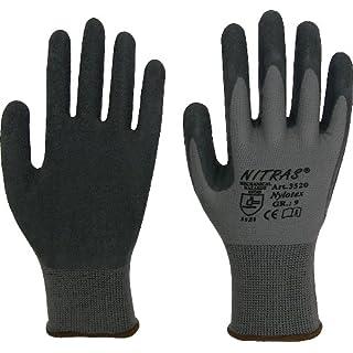 Nitras 3520 EN388 CAT 2 Lot de 12 paires de gants de travail en latex nylotex Taille 10