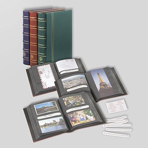 Leuchtturm 336487 Vielzweckalbum Multi für Postkarten, Briefe FDC, Fotos, grün