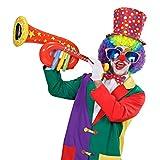 Aufblasbare Tuba Trompete Clown rot Zirkus Posaune Musik Instrument aufblasbar Aufblasbares Blasinstrument Kostüm Accessoire