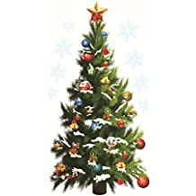 cybuity cm rbol de navidad festival estrellas pvc impermeable extrable adhesivo