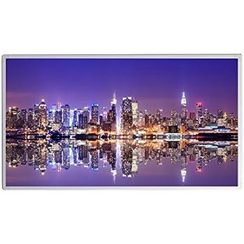 19 Bildheizung Im Shop Infrarot Heizung 600 Watt New York Skyline Fern  Infrarotheizung   5 Jahre