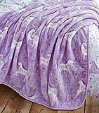 Catherine Lansfield folk Unicorn copriletto 120x 150cm, poliestere, multicolore, 150x 120x 0.5cm
