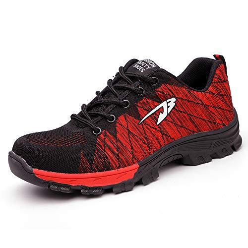 Zapatos Seguridad Hombre Transpirable Ligeras Puntera