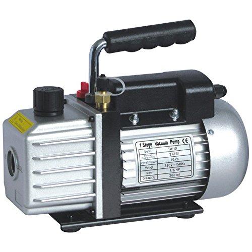 topqsc 4CFM 1/3HP Vakuum Pumpe einzige wechselnden 10PA-Paletten, Etappe für HVAC Klimaanlage Kältemittel Werkzeug - 50 Cfm Lüfter Motor
