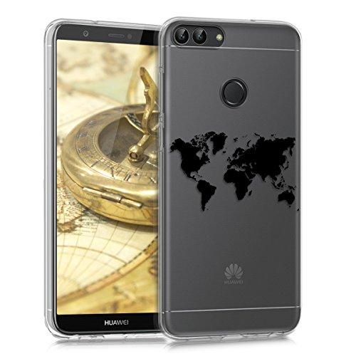 kwmobile Huawei Enjoy 7S / P Smart Hülle - Handyhülle für Huawei Enjoy 7S / P Smart - Handy Case in Schwarz Transparent