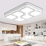 MYHOO 78W Modern Design LED Deckenlampe Deckenleuchte Wohnzimmer Lampe Schlafzimmer Küche Leuchte Kaltweiß(6000-6500K)[Energieklasse A++]