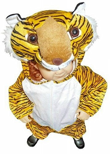 An28 taglia 2-3a (92-98cm) costume da tigre per bambini e neonati, indossabile comodamente sui vestiti normali
