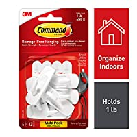 Command 17002-VP-6PK Hooks with Strips Value Pack