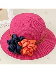 Sombrero de Paja de plegado de verano La versi¨®n coreana de sombreros de sol Sun Cap Playa Cap