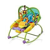 Chipolino CHIPSHER01403JU Musik Babywippe mit Vibration Relax Dschungel, braun