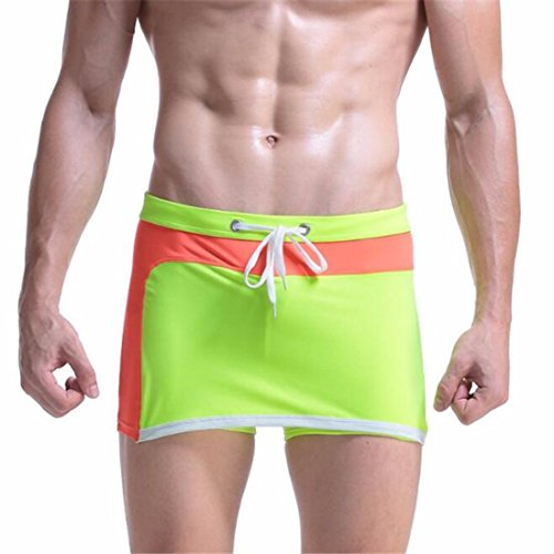 Men's Fashion Patchwork Boxer Shorts green