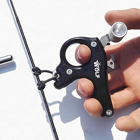 Chasse Tir à L'arc 3 Finger Release Aid Accessoires pour arc composés (noir)