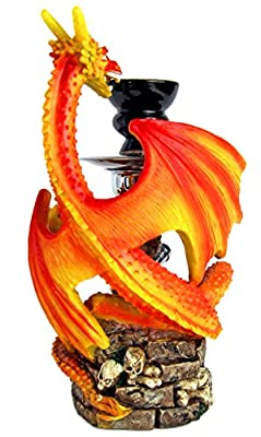 Shisha Wasserpfeife Mystischer Fantasy Roter Drache von NICK AND BEN®