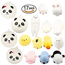 Amaza 17pcs Squishys Kawaii Squishy Juguetes Squishies Animales Slow Rrising Squeeze Kids Toy Gift (Multicolor)