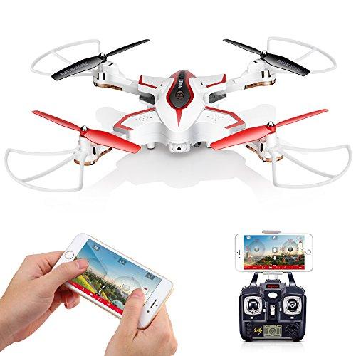 Drohne Mit HD Kamera FPV Faltbar Drone Syma X56W RC Quadcopter APP Steuerung utensils Video Tragbar klappbar Höhenhaltung 360 Grad Drehung Kopflos Modus Weiß