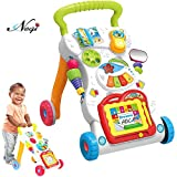 Negi Children Musical Walker, Push and Pull Toy for Toddlers and Kids, Ba