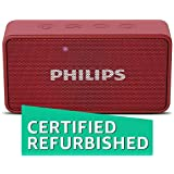 (Renewed) Philips BT64R Portable Bluetooth Speakers (Red)