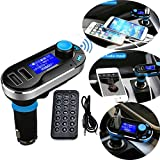 5in1 Wireless Bluetooth Car Music Player FM Transmitter Dual USB Car Charger Support SD/TF Card Music Control Hands-Free Calling for iPhone Samsung Galaxy HTC, LG ,Sony Tablets Mp3 Mp4 Player (sliver)