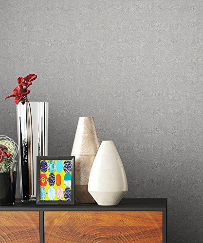 NEWROOM Barocktapete grau Vliestapete silber schwarz Modern,universell schöne moderne und edle...