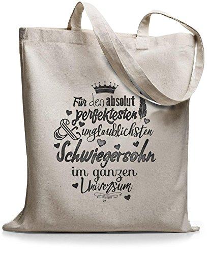 StyloBags Jutebeutel / Tasche Für den absolut perfektesten Schwiegersohn Natur