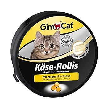 GimCat Käse-Rollis - Friandises pour chat saveur fromage - Sans sucre ajouté - Riche en vitamines - Boîte de 200 g