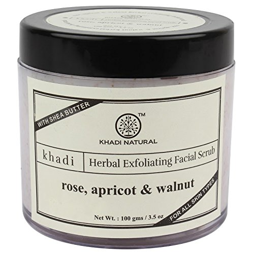 Khadi Apricot and Walnut Cream Scrub With Rose, 100g