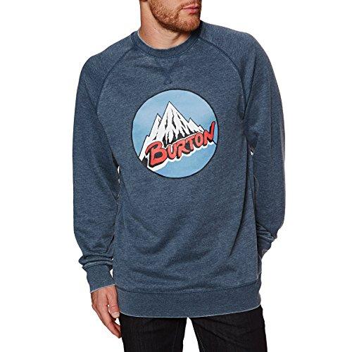 Burton Herren Retro Mountain Crew Sweatshirt Blue