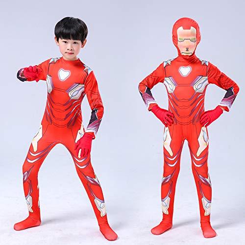 Captain America Kostüm Kind Superhelden Kostüme Erwachsene Verkleidung Kinder,Flash, Iron Man,Film Rollenspiel Overall,Party Rollenspiel Kostüm,I-S