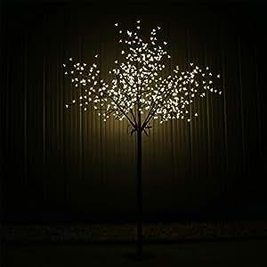 Arbre LED 600Fleurs de Cerisier Blanc chaud blanc chaud Cerisier ledkb600Arbre lumineux