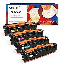 CSSTAR Compatible Toner Cartridge Replacement for CLT-K504S CLT-C504S CLT-M504S CLT-Y504S para Samsung Xpress C1860FW C1810W CLP-415N CLX-4195FN CLP-415NW Printer - Black, Cyan, Magenta, Yellow