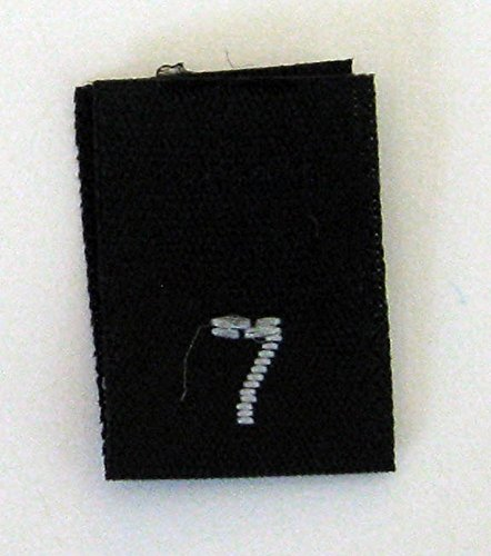 f2459b1a7fd0 Size 7 (Seven) Black Woven Clothing Size Labels by ShuShuStyle