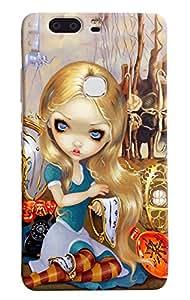Omnam Girl Painted Printed Designer Back Case For Huawei Honor V8