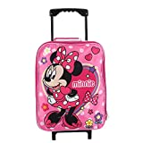 "Junior Minnie Mouse 15"" Collapsible Wheeled Pilot Case - Rolling Luggage"