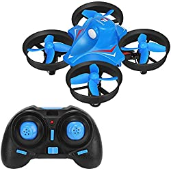 REDPAWZ R010 Mini UFO RC Drones 2.4G 4CH 6Axis Gyro Modo sin cabeza Poderoso RC Quadcopter RTF (Azul)