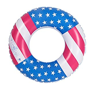 Artistic9 Inflatable Swim Tube USA Flag Swimming Ring Water Pool Float Raft (70CM/27.58')
