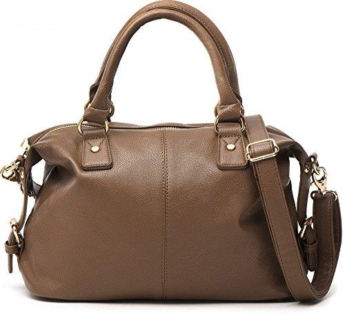 MASQUENADA, borsa da donna, Borsa a mano, Borsa con manico, Bowlingbags, 30,5 x 22,5 x 12 cm taupe