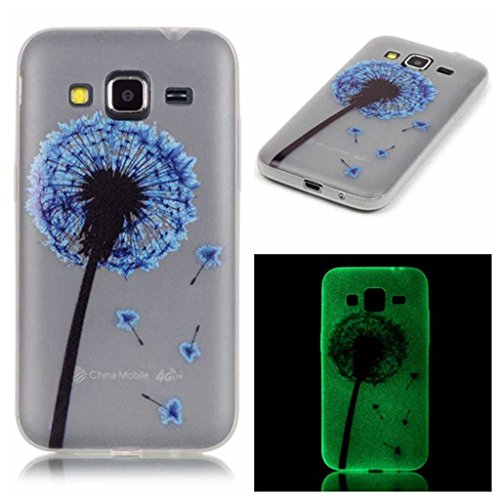 IPHONE 6S/IPHONE 6 CASO CON LIBRE PROTECTOR DE PANTALLA DE VIDRIO TEMPLADO  BOXTII® NOCHE LUMINOSO SUAVE TPU FUNDA SLIM FIT ULTRA DELGADO ANTI SCRATCH SHOCK ABSORPTION PROTECCION BACK FUNDA CARCASA PARA APPLE IPHONE 6S/IPHONE 6  DIENTE DE LEON PATRON DE ARBOL DISEÑO NOCTILUCENT COVER CASE PARA APPLE IPHONE6/IPHONE6S