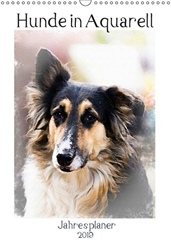 Hunde in Aquarell - Jahresplaner (Wandkalender 2019 DIN A3 hoch): Hundeportraits der unterschiedlichsten Rassen, von der Fotografin Sonja Teßen ... (Planer, 14 Seiten ) (CALVENDO Tiere)