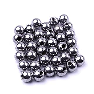 ATOPLEE 36pcs M4 Threaded Steel Ball Rod Ends For Kossel 3D Printer Magnetic Joints