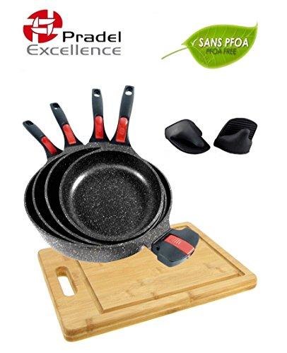 pradel-excellence-gamme-luxe-volna-lot-4-poeles-20-24-28-32-cm-manche-amovible-garanti-sans-pfoa-