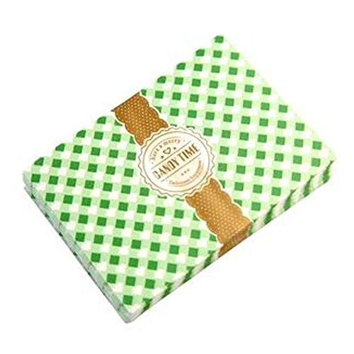 Schöne Süßigkeit Wrappers Süßigkeit Pergamentpapier Twisting Wachspapiere, NO.38