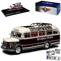 Steyr 380 Q Kerschner Reisen Bus Rot Weiss 1/72 Atlas Modell Auto