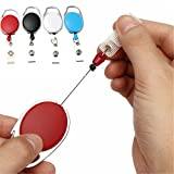 RISHIL WORLD Retractable Reel Keyring Clip Retractable Carabiner Recoil Key Ring Key Chain ID Card Holder Holder Single Item.