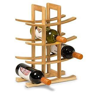 Weinregal VITIS aus Bambus, Weinflaschenhalter, Flaschenregal, Weinständer, Maße: 47x22x32 cm