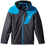 Spyder Lynk 3-in-1 Jacket, Polar Crosshatch/Electric Blue/Black, Large